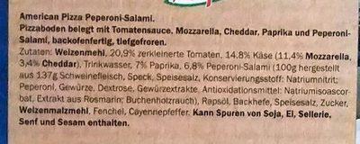 American Peperoni-Salami - Ingredients