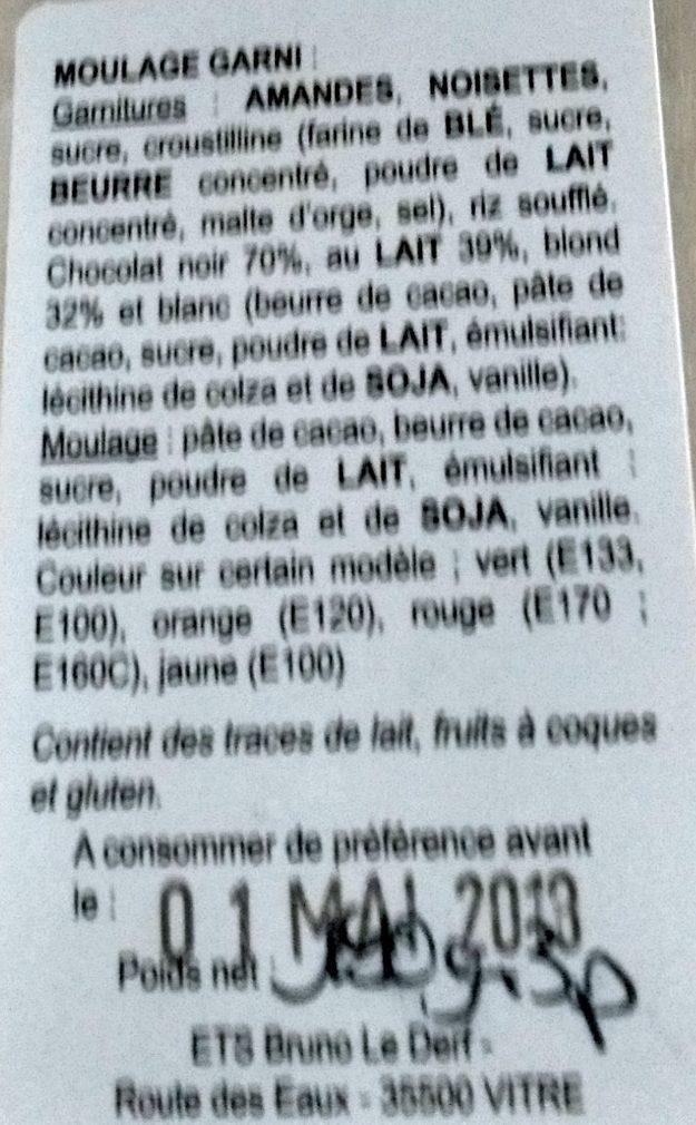 Coffret Poissons (Moulages de Pâques) - Ingrédients