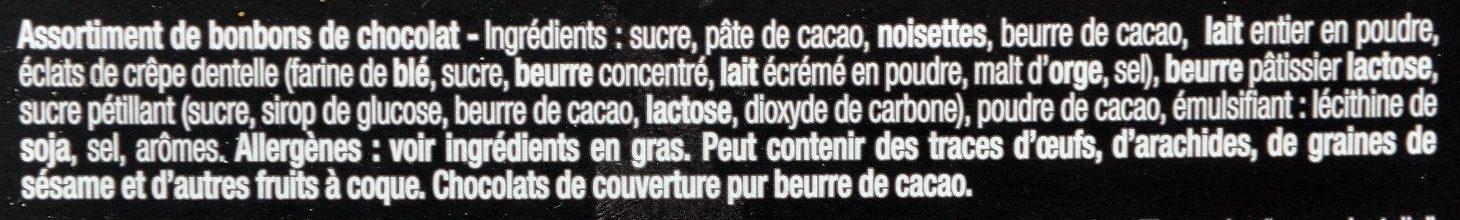 Choco' Pralinés - Ingrédients