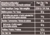 Choco' Pralinés - Informations nutritionnelles