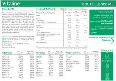 Vitaline Recover Butternut - Ingrediënten