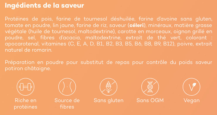 Velouté Potiron Châtaigne - Ingrediënten - fr