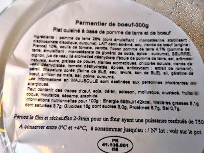Parmentier de bœuf - Produit - fr