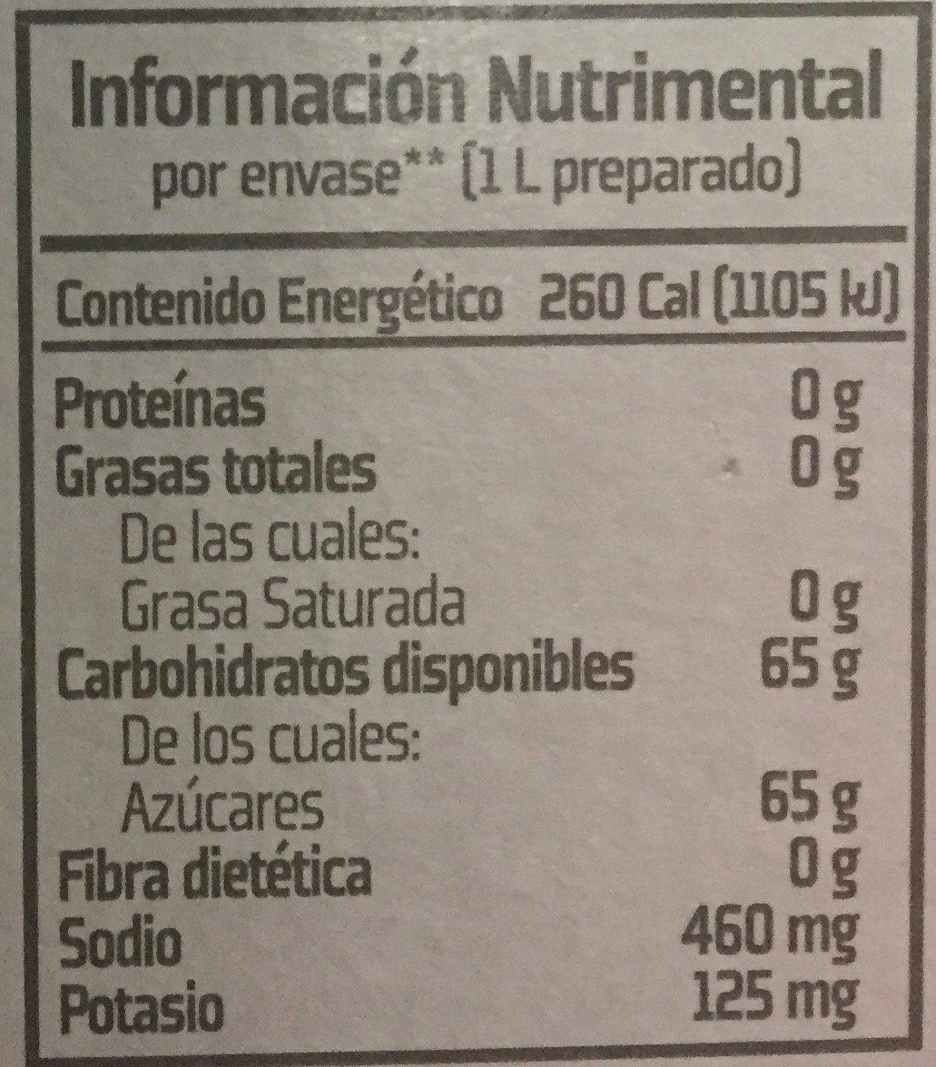 Gatorade Perform - Nutrition facts - es