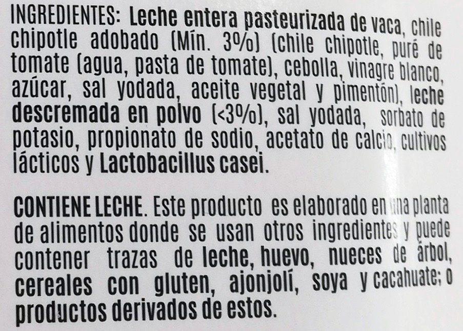 Jocoque seco con chipotle - Ingrédients - es