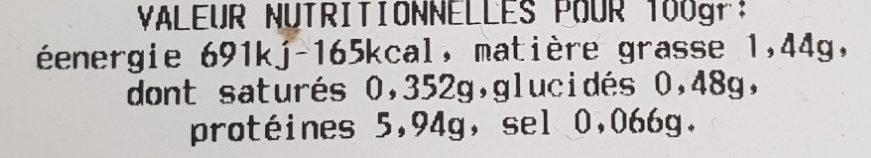 Pâté de foie de volaille - Voedingswaarden