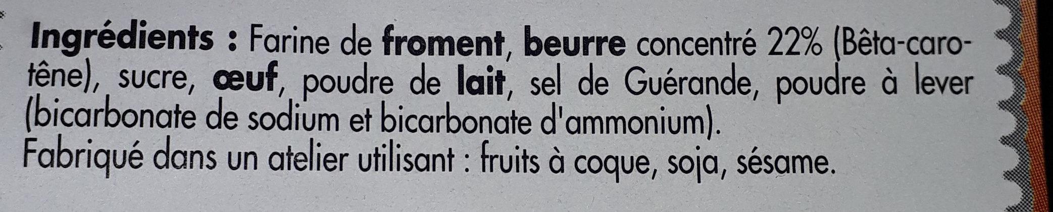 Galettes bretonnes pour beurre - Ingredienti - fr