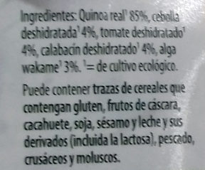 Tabulé de quinoa - Ingredients