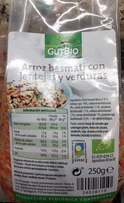 Arroz basmati con lentejas y verduras - Product - es