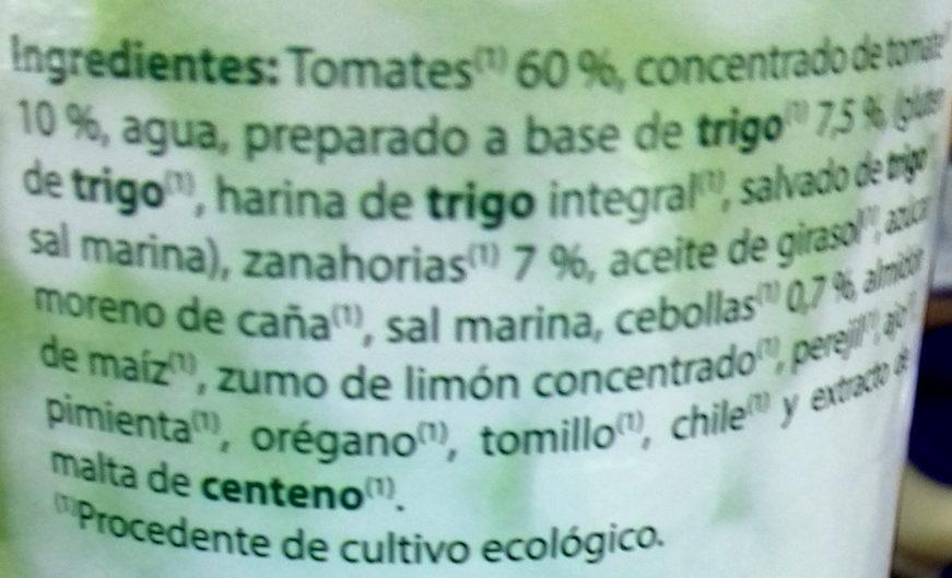 Boloñesa vegetariana - Ingredients - es
