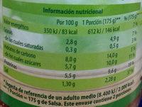 Boloñesa vegetariana - Informació nutricional - es