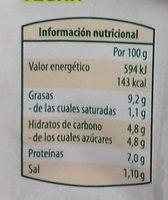 Veggie Curry Hindú - Informació nutricional