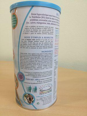 Mix Fraise Framboise Kriss-Laure reconstitué (37g dans 200 ml d'eau) - Ingredients - fr