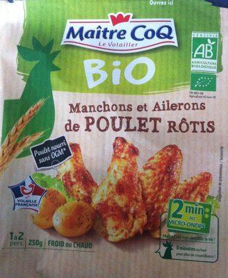 Manchons/ailerons de poulet bio rôtis Maître Coq - Produit