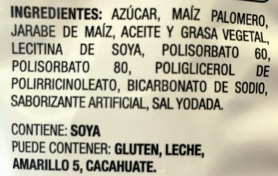 Pop Karameladas - Ingrédients