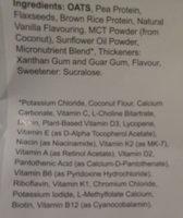 Huel v2.3 Vanilla - Ingredients