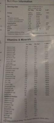 Huel v2.3 Vanilla - Nutrition facts