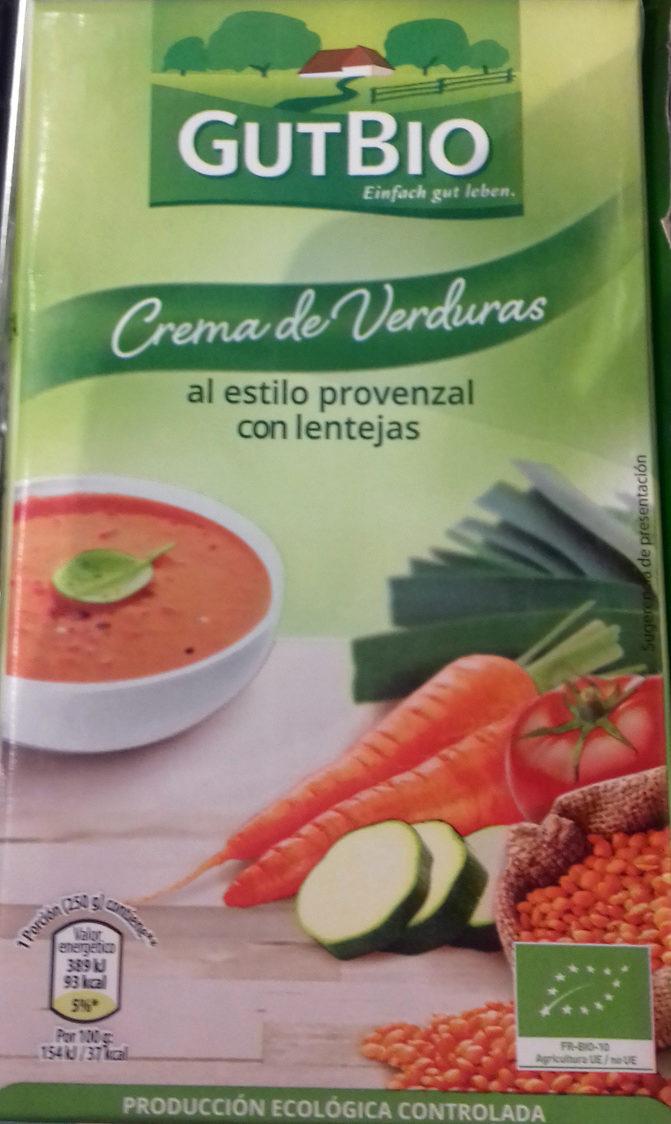 Crema de Verduras al estilo provenzal con lentejas - Producto