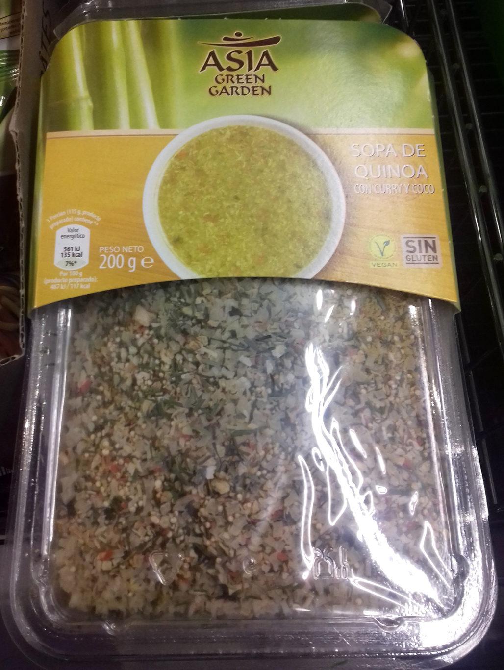 Sopa de quinoa con curry y coco - Producto - es