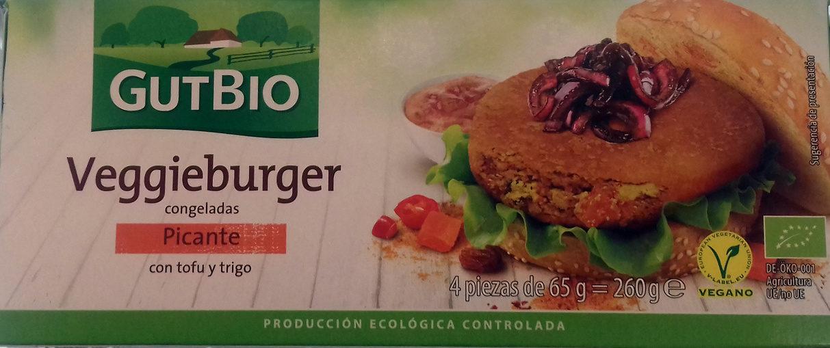 Veggieburger congeladas Picante con tofu y trigo - Producto - es