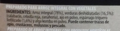 Arroz Integral con trigueros - Ingredients