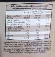 Arroz Integral con trigueros - Informació nutricional