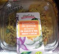 Ensalada de quinoa al curry con semillas de soja, boniato y lentejas - Product - es