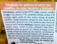 Ensalada de quinoa al curry con semillas de soja, boniato y lentejas - Ingredients - es