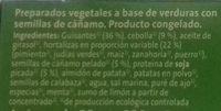 Veggieburger congeladas Verdura - Ingredientes
