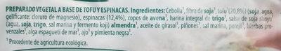 Veggieburger de Tofu y Espinacas - Ingredients