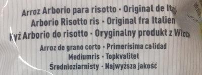 Arroz Arborio para risotto - Ingredientes