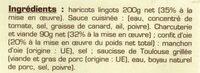 Cassoulet de Castelnaudary au confit d'oie - Ingrédients
