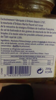 Moutarde d'Orléans - Product - fr