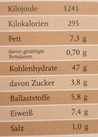 Pfister Öko-Walnussbrot - Nutrition facts - de