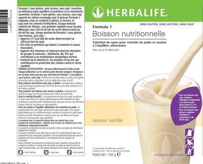 Herbalife  saveur vanille - Product - fr