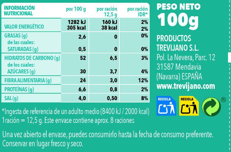Sopa Juliana de Mar - Información nutricional