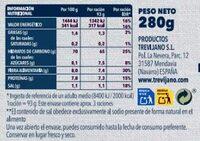 Risotto de Algas - Información nutricional - es