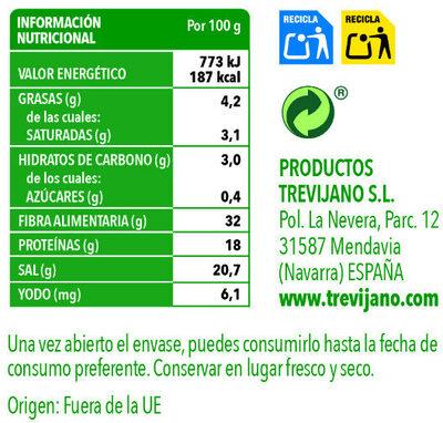 Alga Wakame - Información nutricional