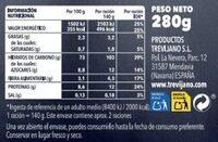 Paella Seleccion 6 Verduras - Información nutricional - es