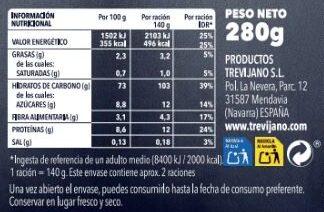 Paella Seleccion 6 Verduras - Informació nutricional