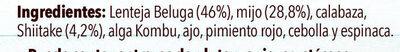 Lentejas Beluga con Mijo y Shiitake - Ingredients