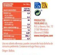 Quinoa real - Información nutricional - es