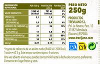 Quinoa Tricolor con Shiitake y Avellanas - Información nutricional