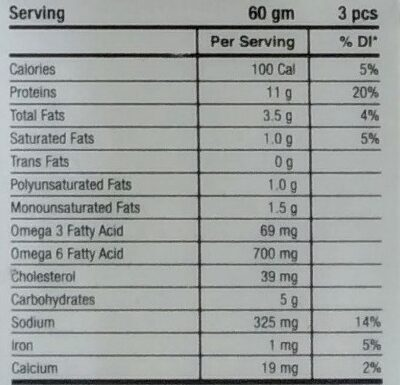 Chicken Gola Kabab - Nutrition facts