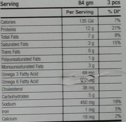 Chicken Kofta - Nutrition facts