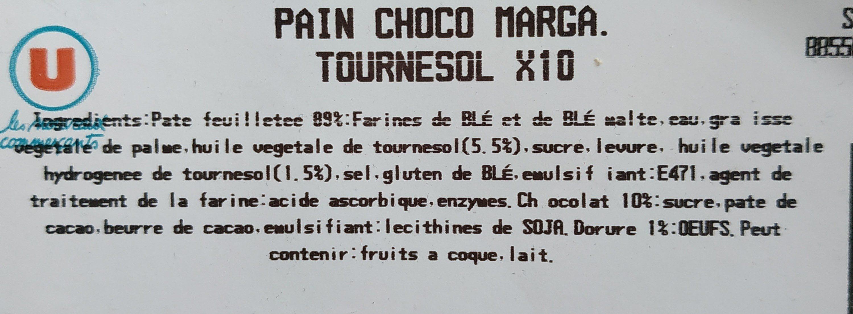 Pain au chocolat - Ingrediënten