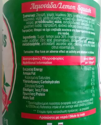 Lemon Squash - Product