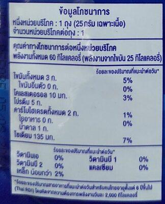 ทูน่าในซอสโชยุ - Informations nutritionnelles - th
