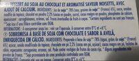 Soja Chocolat saveur noisette Dessert végétal - Ingrediënten - fr
