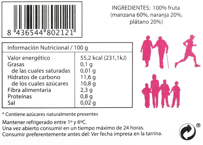 Postre de Manzana Asada con Naranja y Plátano - Voedingswaarden - es